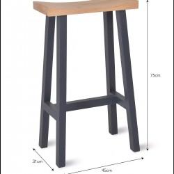 tabouret de bar en bois