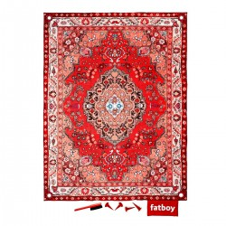 Tapis outdoor rouge fatboy