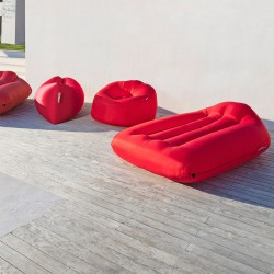 Pouf rouge outdoor Fatboy