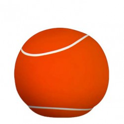 pouf balle de tennis orange