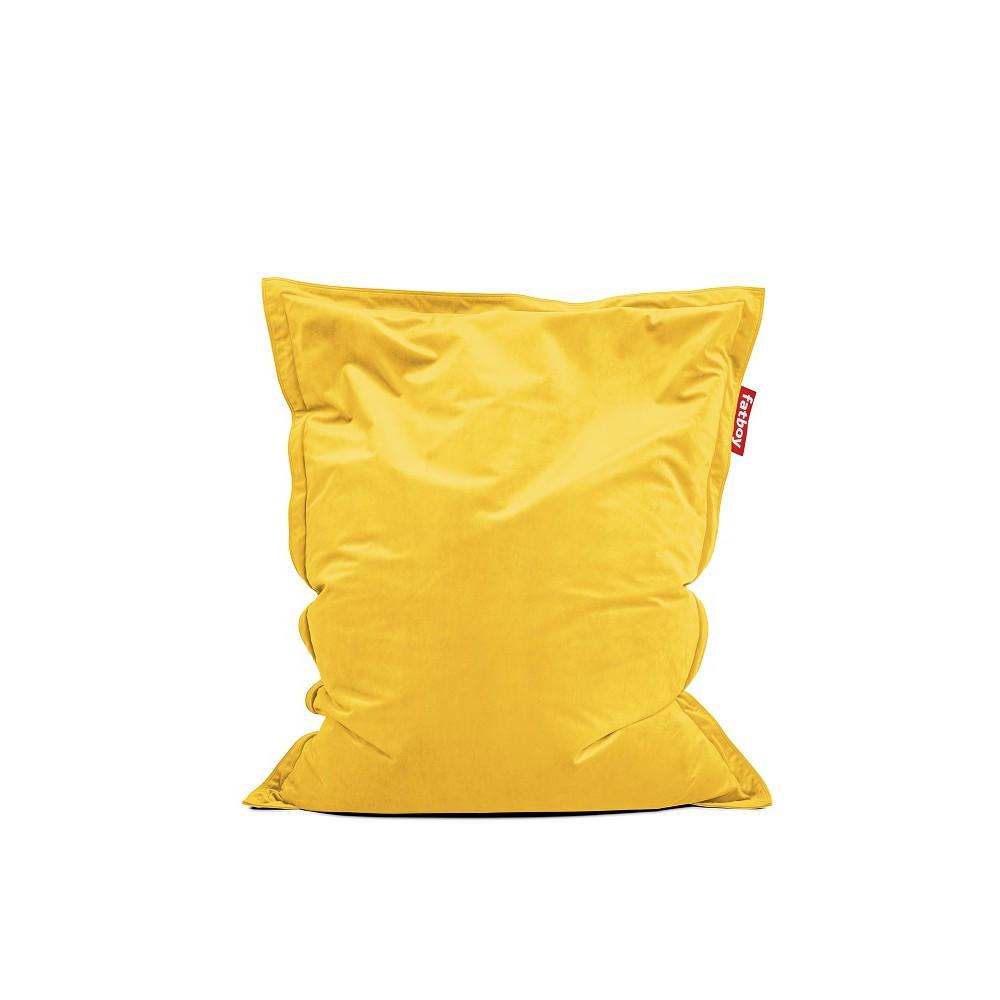 Pouf Original Slim Velvet jaune