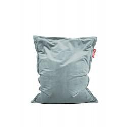 Pouf Original Slim Velvet gris bleu