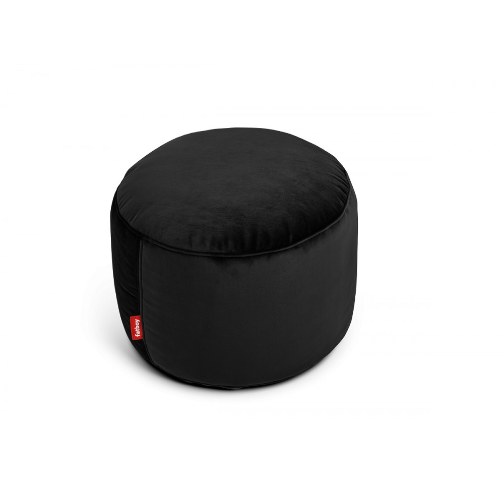 Pouf Point Velvet noir