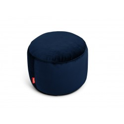 Pouf Point Velvet bleu marine