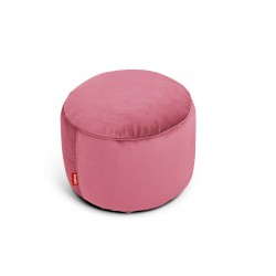 Pouf Point Velvet framboise
