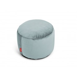 Pouf Point Velvet gris bleu