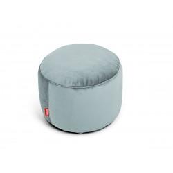 Pouf Point Velvet gris bleu