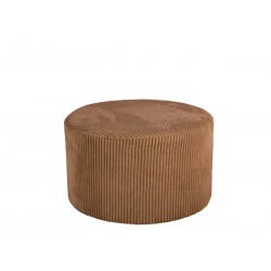 Pouf en velours marron Glam...