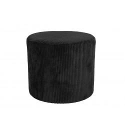 Pouf en velours noir Ø45cm