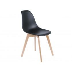 Chaise scandinave noire et...