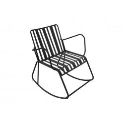 Chaise à bascule acier noir