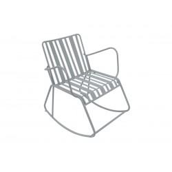 Chaise à bascule acier gris