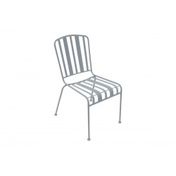 Chaise extérieure en acier gris