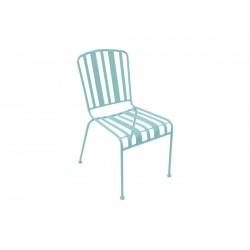 Chaise extérieure en acier vert