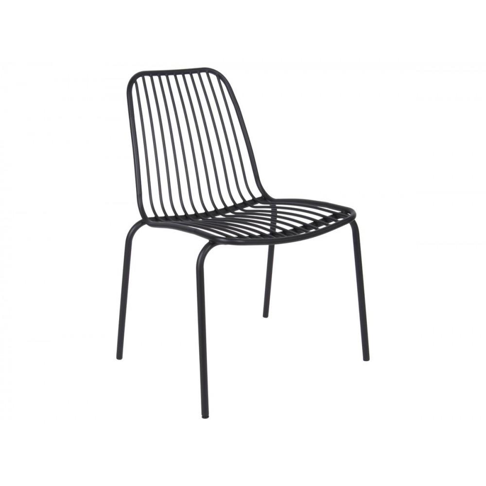 Chaise de jardin noire