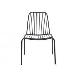Chaise d'extérieur métal noir