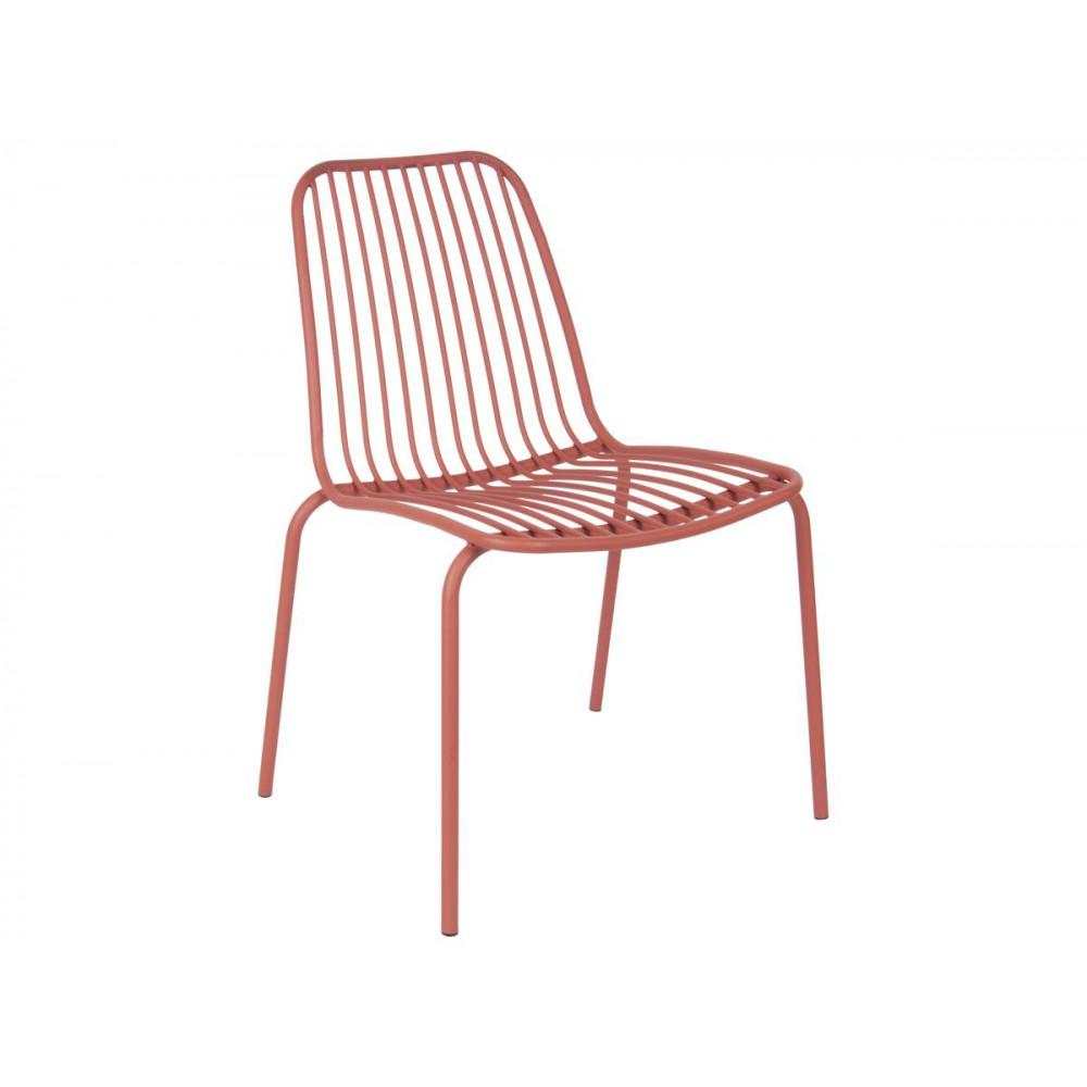 Chaise de jardin marron