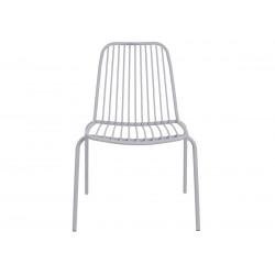 Chaise de jardin métal gris