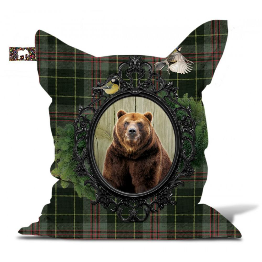 Pouf géant ours écossais