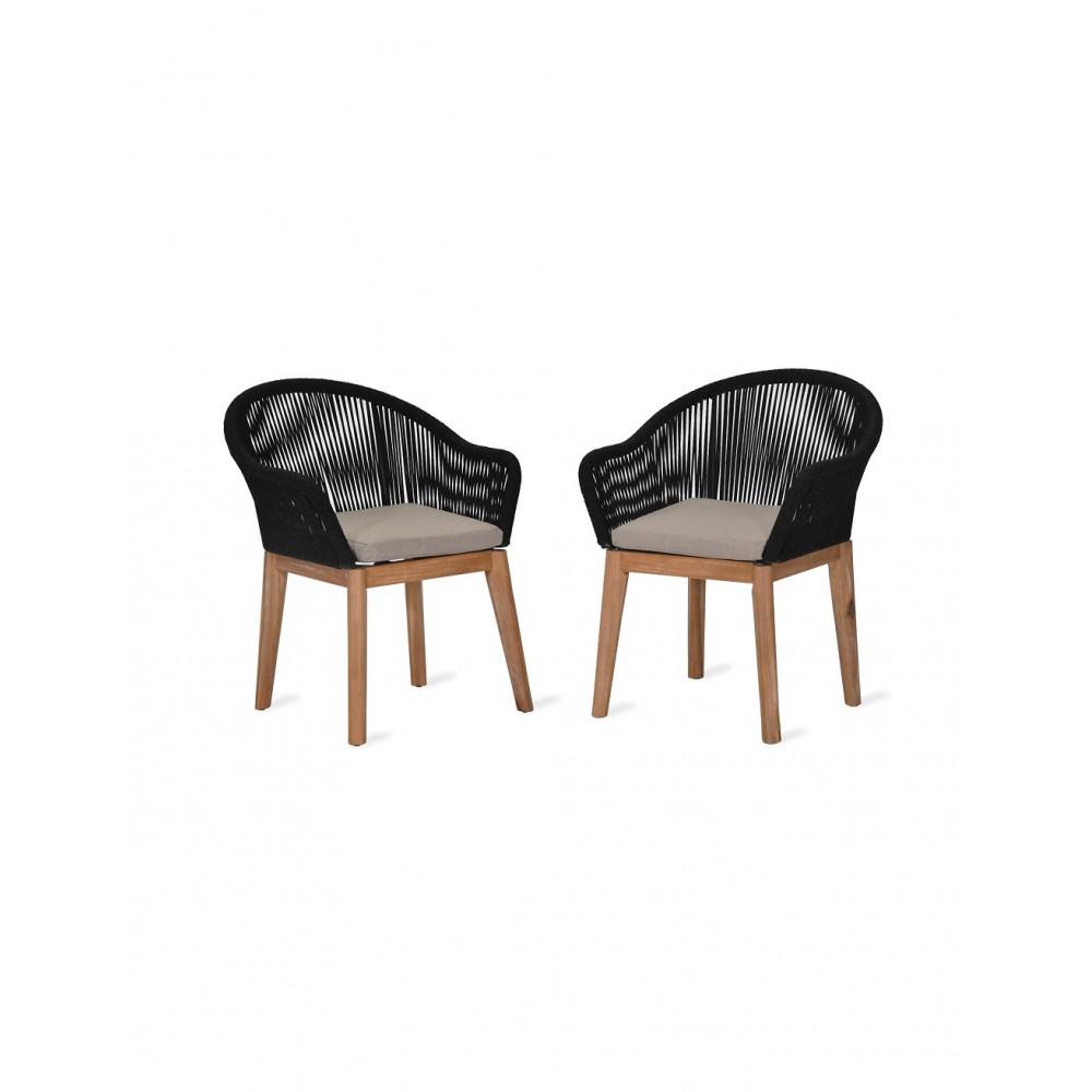 Chaises de salle à manger en bois d'acacia