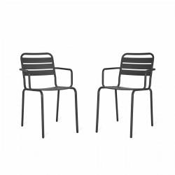 lot de 2 fauteuils de jardin