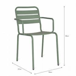 fauteuil exterieur vert d'eau
