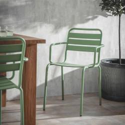 chaise extérieure vert d'eau