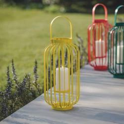 Grande lanterne jaune pour bougie
