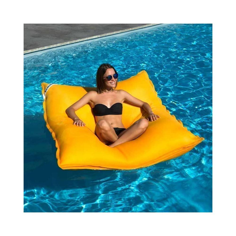 pouf piscine jaune