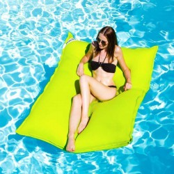 grand pouf piscine vert anis