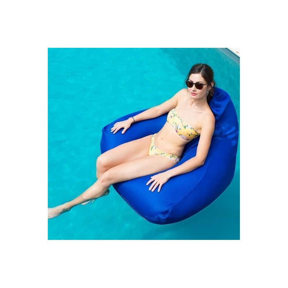 fauteuil piscine flottant bleu