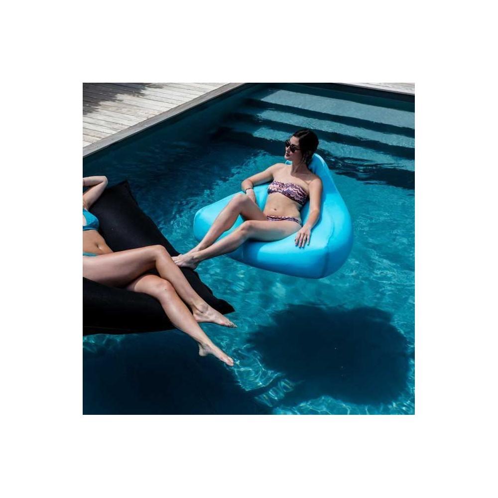 petit fauteuil pouf piscine bleu
