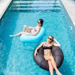 pouf piscine bleu fauteuil