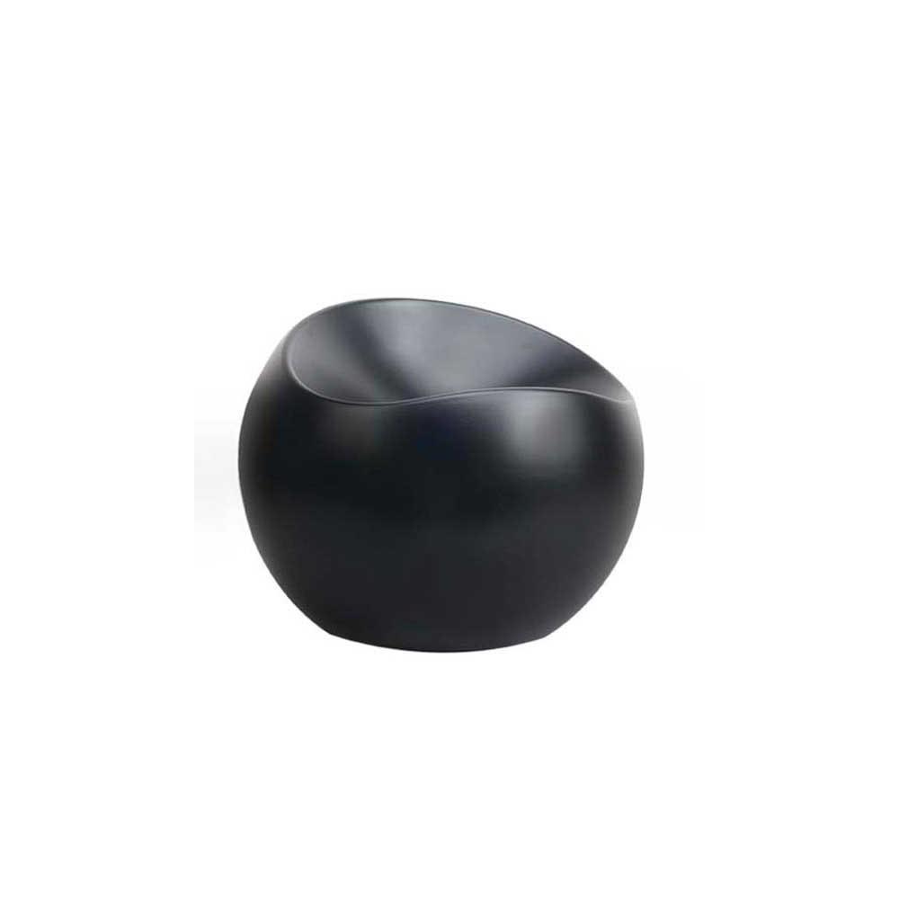 ball chair noir mat