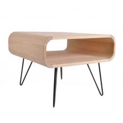 table basse carrée en bois massif