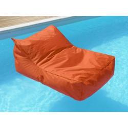 Pouf fauteuil piscine orange