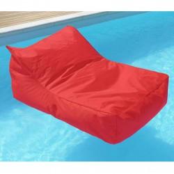pouf piscine fauteuil rouge