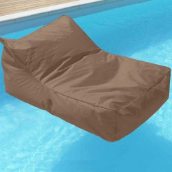 pouf fauteuil piscine taupe