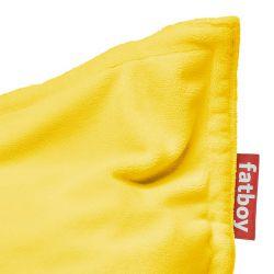 pouf jaune confortable
