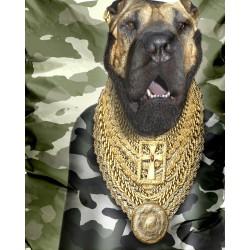 Pouf original chien militaire