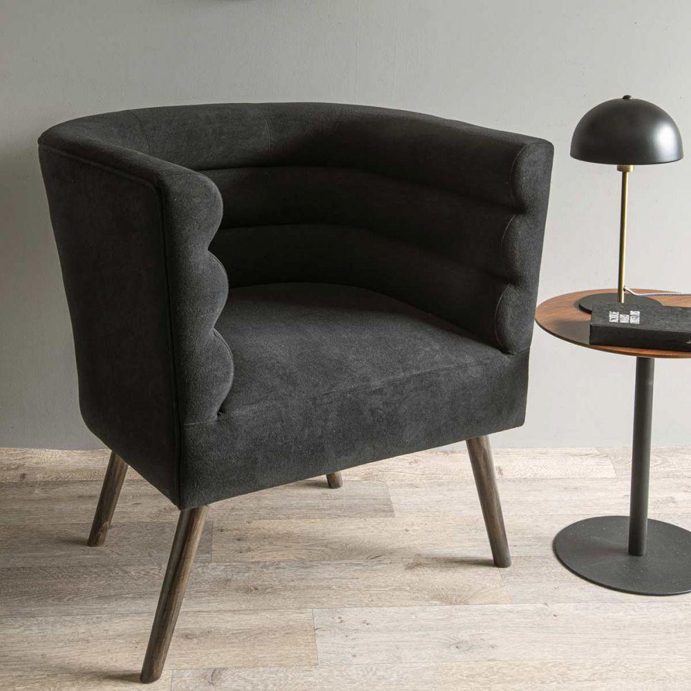 Chaise daim noir