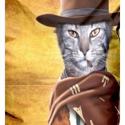 Pouf original chat Cowboy