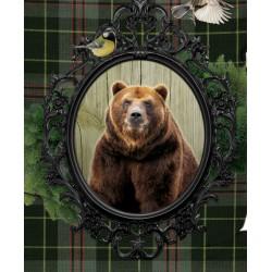 Pouf géant ours écossais zoom