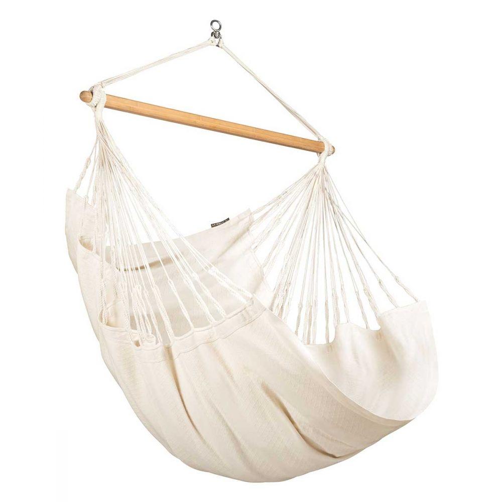Chaise hamac en coton blanc