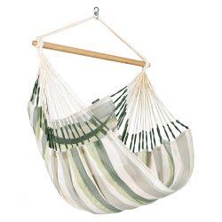 Chaise hamac rayée verte