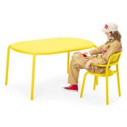 Table aluminium jaune