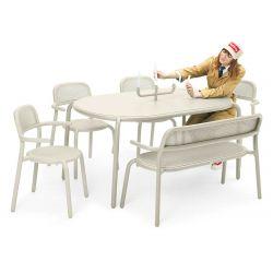 Table beige aluminium