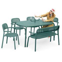 Table verte pour jardin