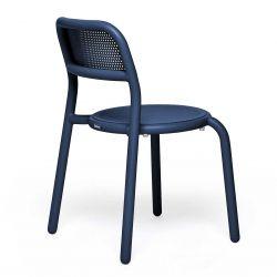 Chaise de jardin bleu