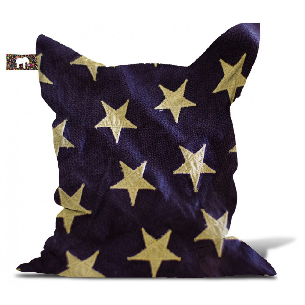 Pouf étoile drapeau USA